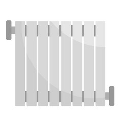 Central heater icon flat style vector