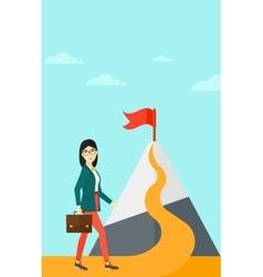 Cheerful leader woman vector image