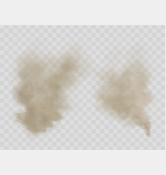 Clouds dust smoke isolated realistic vector