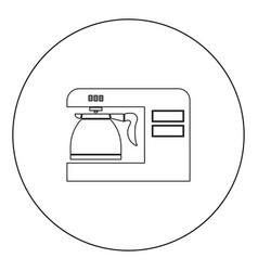coffeemaker coffee machine black icon in circle vector image