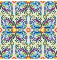 Colorful seamless pattern - abstract flowers vector