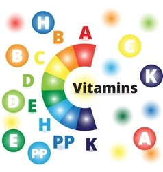 colorful vitamins vector image
