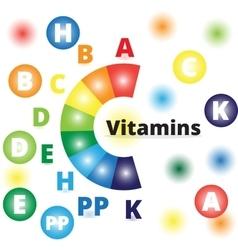 Colorful vitamins vector