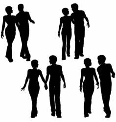 couples walking vector image