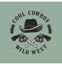 Cowboys emblem on a white background vector