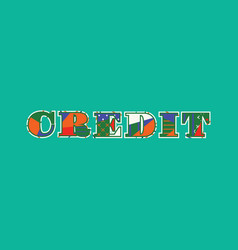 Credit concept word art vector