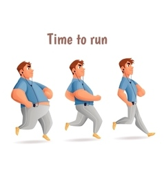 Different body types of men men run vector image