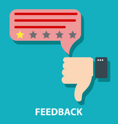 Disagree or dislike feedback concept vector