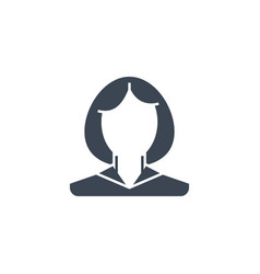 employee woman related glyph icon vector image