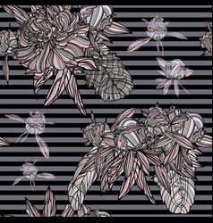 ethnic bouquet seamless pattern vector image