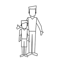 Family avatar concept black and white vector