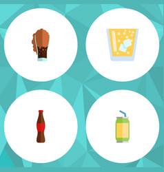 Flat icon soda set of juice soda lemonade and vector