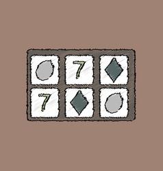Flat shading style icon casino gambling vector