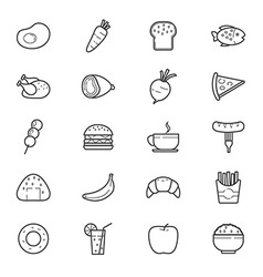 Food and Drink Icons Line vector