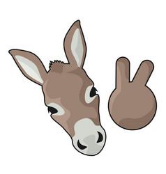 funny donkey vector image