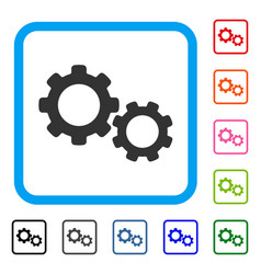 gears framed icon vector image