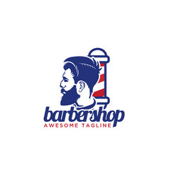 gentlemen barber shop logo design inspiration vector image