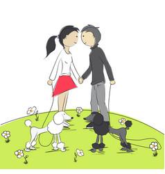 Girl and boy vector