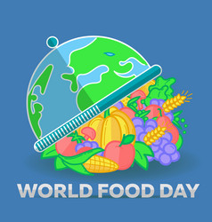 Greeting card world food day vector
