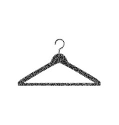 Hanger sign black icon from vector