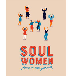happy diverse women dancing for womens day party vector image