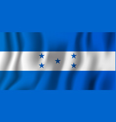 honduras realistic waving flag national country vector image