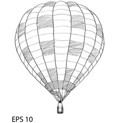 Hot air balloon sketch up line eps 10 vector