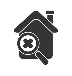 House search zoom isolated vector