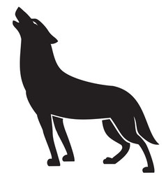Howling wolf silhouette vector