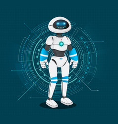 Humanoid robot with artificial intelligence vector