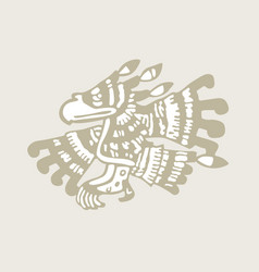 indian eagle totem symbol vector image