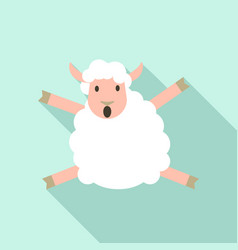 jumping sheep icon flat style vector image