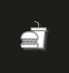 junk food icon - fast food icon - burger sandwich vector image