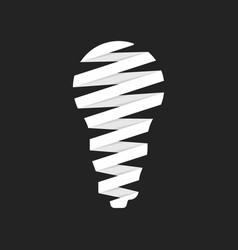 led bulb icon like origami vector image