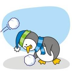 little penguin 2 vector image