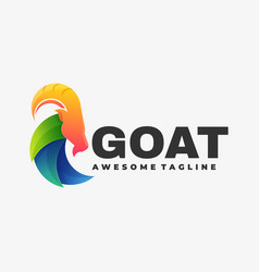 Logo goat gradient colorful style vector