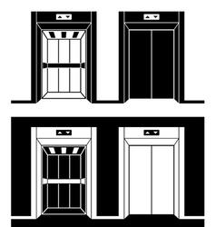 Modern elevator black symbols vector