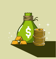 money and savings cartoons vector image