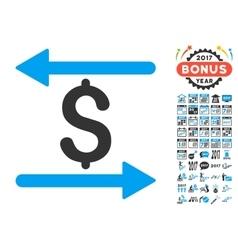 Money Transactions Icon With 2017 Year Bonus vector