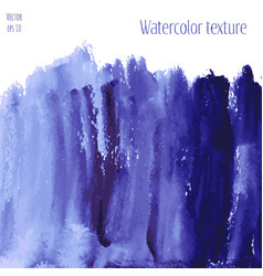 Navy blue indigo watercolor texture background vector