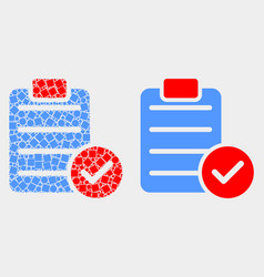 Pixelated and flat accept pad text icon vector