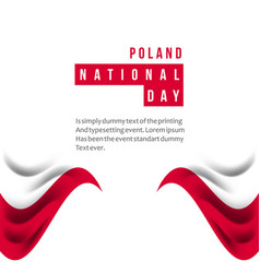 Poland national day template design vector