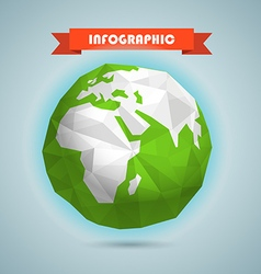 polygonal earth infographic elements templa vector image