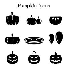 Pumpkin icon set vector