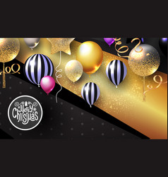 realistic glossy and transparent balloons vector image