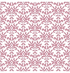 Red and white damask stylized seamless pattern vector