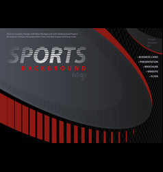 red-black background in sport design style vector image