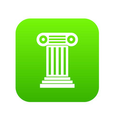 roman column icon digital green vector image