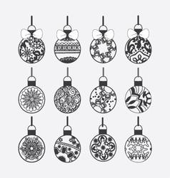 Set of Christmas balls vector