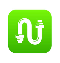 siphon icon green vector image